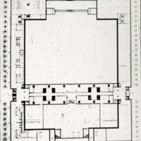 William Hayward and Associates entry City Hall and Square Competition, Toronto, 1958, floor plan