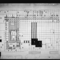 Martha and Ragnar Ypya entry City Hall and Square Competition, Toronto, 1958, first floor plan