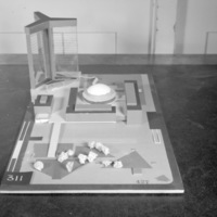 A. Meyer entry, City Hall and Square Competition, Toronto, 1958, architectural model