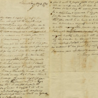 Letter from Henry Lewis to his master, William Jarvis   <br /><br />