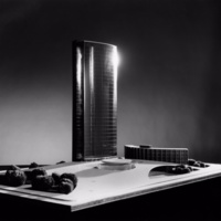 Takeo Ito entry City Hall and Square Competition, Toronto, 1958, architectural model.