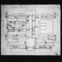 J. Narwekar entry City Hall and Square Competition, Toronto, 1958, first floor plan