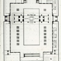 William Hayward and Associates entry City Hall and Square Competition, Toronto, 1958, plaza level plan
