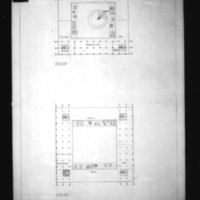 Hans G. Egli entry City Hall and Square Competition, Toronto, 1958, floor plans