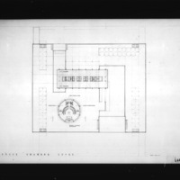 John C. Parkin entry City Hall and Square Competition, Toronto, 1958, council chamber level