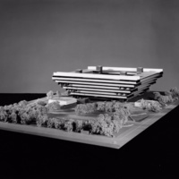 Hans G. Egli entry City Hall and Square Competition, Toronto, 1958, architectural model