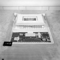 Dimitri Dimakopoulos entry, City Hall and Square Competition, Toronto, 1958, architectural model