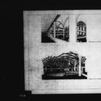 T. R. Feinberg entry City Hall and Square Competition, Toronto, 1958, three perspective drawings