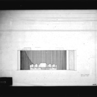 Sven Backstrom entry City Hall and Square Competition, Toronto, 1958, south elevation