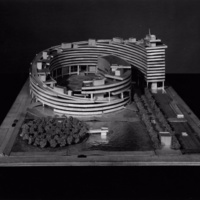 Paul Hamilton and John Bicknell entry, City Hall and Square Competition, Toronto, 1958, architectural model