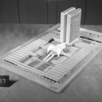 Jack D. Annett entry, City Hall and Square Competition, Toronto, 1958, architectural model