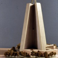 Josef Havlicek entry, City Hall and Square Competition, Toronto, 1958, architectural model