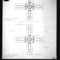 Wilhelm Holzbauer entry City Hall and Square Competition, Toronto, 1958, ninth and tenth floor plans