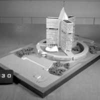 T. Bliss entry, City Hall and Square Competition, Toronto, 1958, architectural model