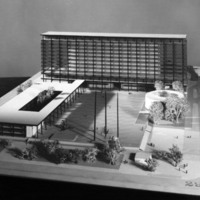 Keith Spratley and Stanley Heinonen entry, City Hall and Square Competition, Toronto, 1958, architectural model