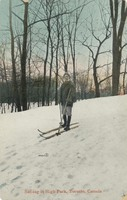 Ski-ing in High Park, Toronto, Canada