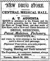 Advertisement for Augusta drug store