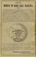 Bryce's Canadian base ball guide! for 1876, containing constitution and by-laws, playing rules and championship code of the Canadian Association of Base Ball Players.